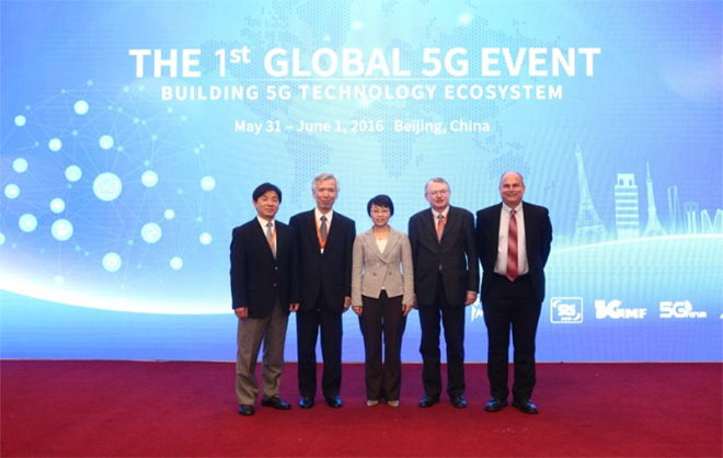 Snapshot of the representative of the five 5G promotion organizations