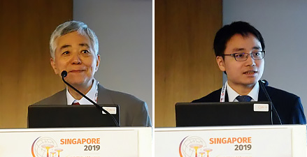 Oyama Satoshi, Senior Researcher ARIB(left), Hara Koji, Section Chief MIC(right)