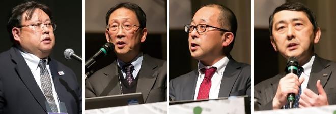 (from the left) Dr. OKUMURA Yukihiko, Mr. OKADA Takashi, Mr. ICHINOSE Masanori, Mr. MATSUNAGA Akira