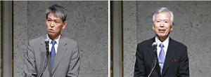 (左)鈴木 茂樹 総務審議官 (右)吉田 進 組織委員長