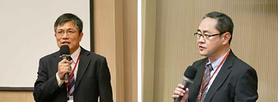 (左)台湾経済部技術処 林浩鉅氏、(右)電波産業会 理事 森山繁樹氏