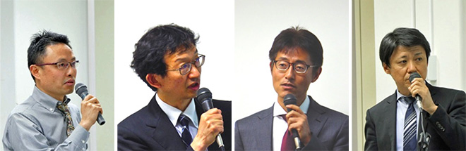 (左から)朱 厚道氏、本多 美雄氏、城田 雅一氏、浜口 雅春氏