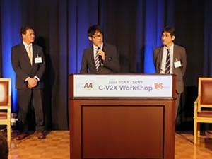 Masaru HATAHASHI 氏(左)、Munefumi TSURUSAWA 氏(中)、Mikio IWAMURA 氏(右)