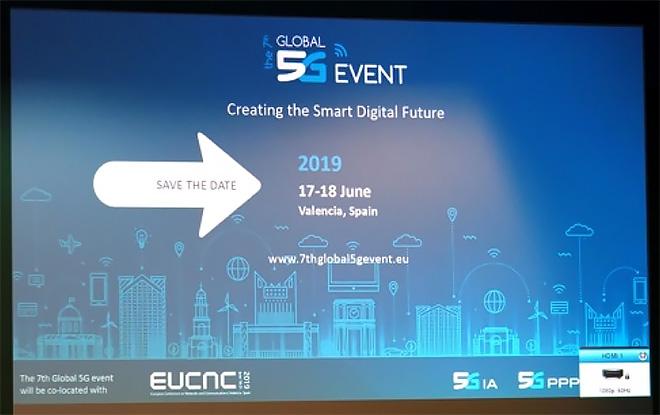 次回、第7回グローバル5Gイベントのアナウンス(5G-IA)
