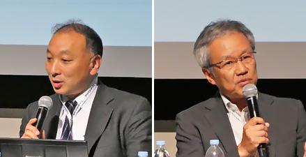 吉野仁氏(ソフトバンク)(左)赤田正雄氏(ファーウェイ)(右)