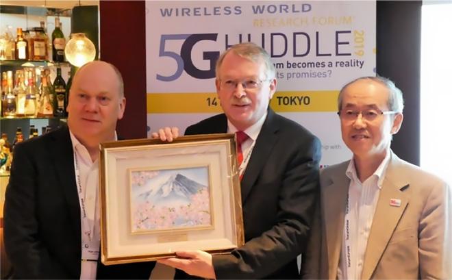 Fellowship Awardを受賞されたWerner Mohr氏(Nokia)