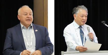 左:Dr. Hendrik Berndt(WWRF)右:三瓶政一教授(大阪大学)