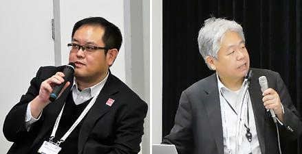 岸山祥久氏(NTTドコモ)(左)西村公佐氏(KDDI)(右)