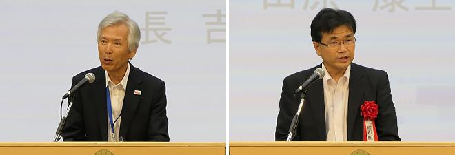 5GMF会長 吉田 進 様(左)、総務省 電波部長 田原 康生 様(右)