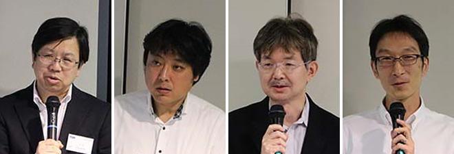 左から三宅 優 氏、青柳 健一郎 氏、石井 一彦 氏、窪田 歩 氏