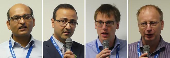 左からAnand R. Prasad氏(Rakuten Mobile Inc)、Noamen Ben Henda氏(3GPP SA3 Chair)、Alf Zugenmaier氏(3GPP SA3 Vice Chair)、Adrian Escott氏(3GPP SA3 Vice Chair)
