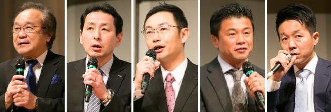 (左から)関口 和一 氏、中村 武宏 氏、小西 聡 氏、野田 真 氏、佐藤 祐介 氏